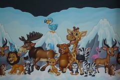 Textil - Zvieratká pod ľadovou horou úplet digi - 10298313_