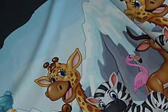 Textil - Zvieratká pod ľadovou horou úplet digi - 10298317_