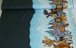 Textil - Zvieratká pod ľadovou horou úplet digi - 10298318_