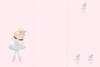 Textil - Panel na fusak z nepremokavého polyesteru 155x105 vzor balerína ružová - 10298785_