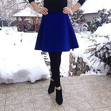 Sukne - Polkruhová sukňa z kostýmovky PARÍŽSKÁ MODRÁ - 10299261_