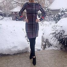 Šaty - Kárované šaty