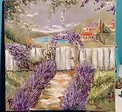 Obrazy - Levanduľová záhrada - 10299062_