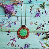 Náhrdelníky - Howlitový n.1 - šitý náhrdelník - 10297550_