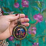 Náhrdelníky - Jaspisový n.7- šitý náhrdelník - 10297584_