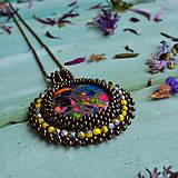 Náhrdelníky - Jaspisový n.7- šitý náhrdelník - 10297585_