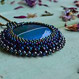 Náhrdelníky - Achátový n.10 - šitý náhrdelník - 10297629_