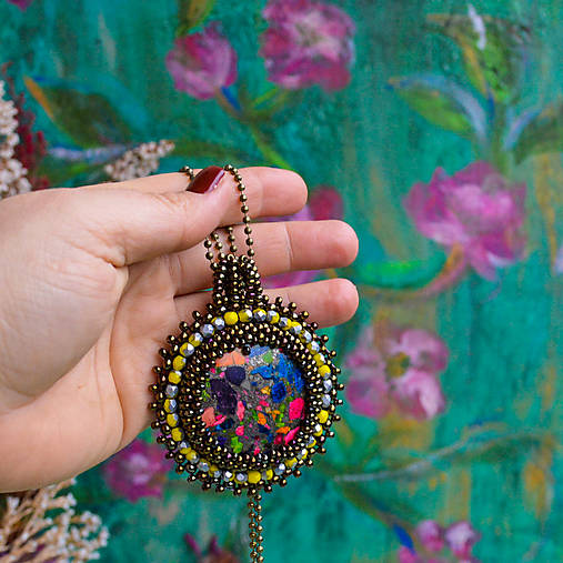 Jaspisový n.7- šitý náhrdelník