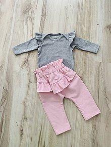 Detské oblečenie - Tepláčiky s volánom JIM - 10298995_