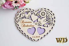 Prstene - Tanierik na obrúčky Ľudové srdce - 10298271_