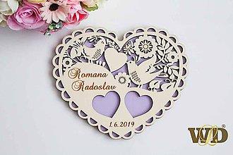 Krabičky - Tanierik na obrúčky Ľudové srdce - 10298271_