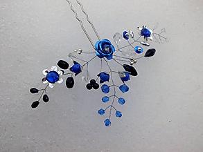 Ozdoby do vlasov - vlásenka - kráľovská modrá - 10296619_