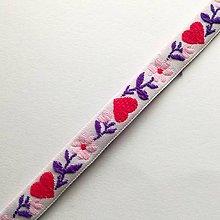 Galantéria - Krojová stuha so srdiečkami 10 mm (1 m) (ružová svetlá) - 10299176_