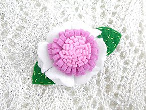 Detské doplnky - Detská sponka (kvetinová biela) - 10297887_
