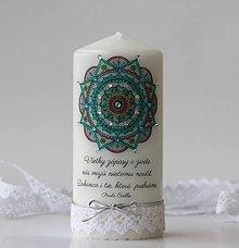 Svietidlá a sviečky - Motivačná sviečka s mandalou - 10299292_