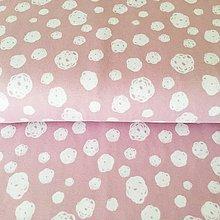 Textil - bavlnený úplet Ružové machuľky, šírka 150 cm - 10297291_