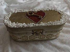 """Krabičky - Šperkovnica - """"Kľúč od môjho srdca II."""" - 10298349_"""