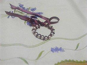 Náramky - perlový náramok - 10298946_