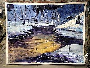 Obrazy - Modrá zima - 10298616_