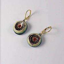 Náušnice - Tana šperky - keramika/zlato - 10299245_