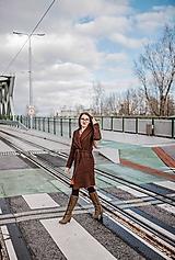Kabáty - Vlnený urban kabát SEVERANKA - 10299806_