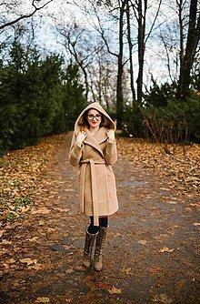 Kabáty - Vlnený kabát s kapucňou SEVERANKA  - 10298923_
