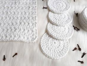 Úžitkový textil - Odličovacie tampóny a umyvacia žinka - 10296398_