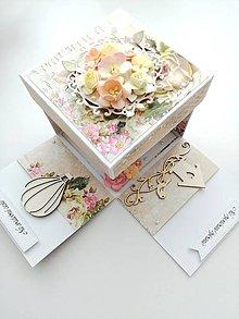 Krabičky - Krabička na peniaze - 10296804_