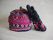 Čiapky - 100% Prírodné, čiapka a rukavice - 10296790_