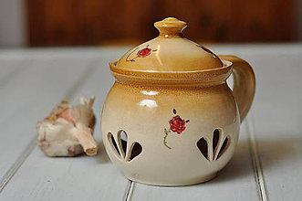 Nádoby - Ružičková dóza na cesnak - 10299290_