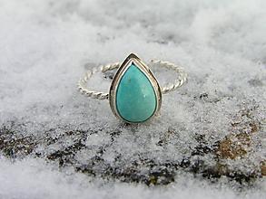 Prstene - Strieborny prsteň Ag925 Tyrkys - 10296603_