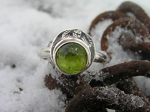 Prstene - Strieborny prsteň Ag 925 Olivín - 10296632_