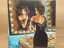Obrazy - žena pred zrkadlom - 10296376_