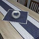 Úžitkový textil - Kuchyňa v modrom - stredový obrus - 10299857_