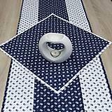 Úžitkový textil - Kuchyňa v modrom - obrúsok štvorec 40x40 - 10299870_