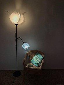 Svietidlá a sviečky - Dvojitá snehulienka- stolná lampa - 10296918_