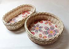 Košíky - Ružové kvety - 10299687_