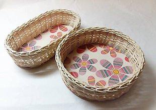 Košíky - Ružové kvety (sada) - 10299687_