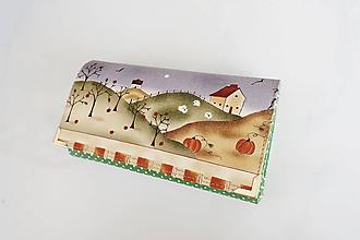 Peňaženky - Na chaloupce - peněženka 17 cm, na spoustu karet - 10299409_