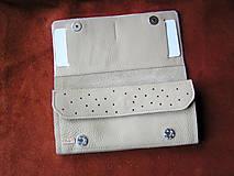 Peňaženky - Peňaženka krémová - 10297962_