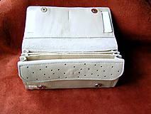 Peňaženky - Peňaženka krémová - 10297964_