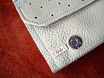 Peňaženky - Peňaženka krémová - 10297965_
