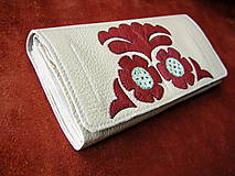 Peňaženky - Peňaženka krémová - 10297967_