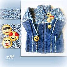Detské oblečenie - Sveter so smajlíkmi - 10296811_