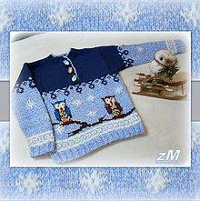 Detské oblečenie - Mikina so sovičkami. - 10296862_