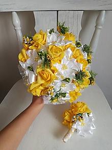 Kytice pre nevestu - Rozkvitnutá žlto biela - 10296750_