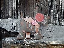 Kľúčenky - Prívesok na kľúče - šedý psík - 10297900_