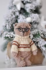 Hračky - Háčkovaný medvedík Marek - 10298072_