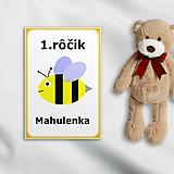 Papiernictvo - Minimalistické míľniková kartičky - včelička - 10298975_