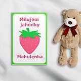 Papiernictvo - Minimalistické míľniková kartičky - jahôdka - 10298987_